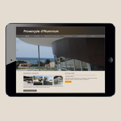 Webdesign – Provençale d'alu