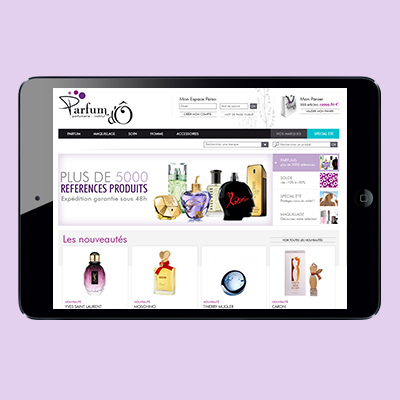 Webdesign – Parfum d'Ô