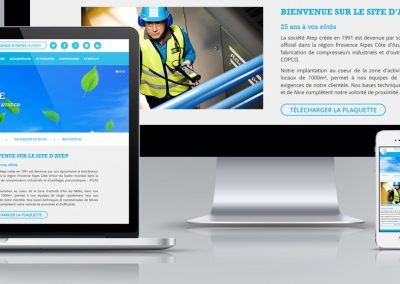 webdesign responsive template de page