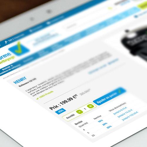 WebDesign site e-commerce Prestashop