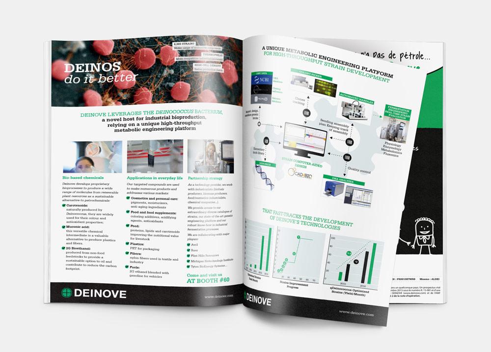 création encart publicité magasine graphiste freelance marseille