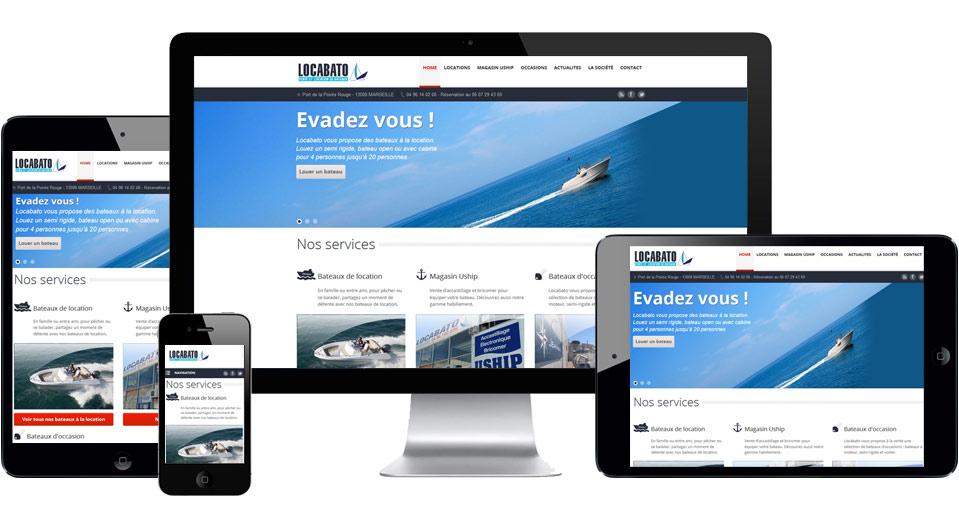 création et intégration de la charte graphique site internet locabato