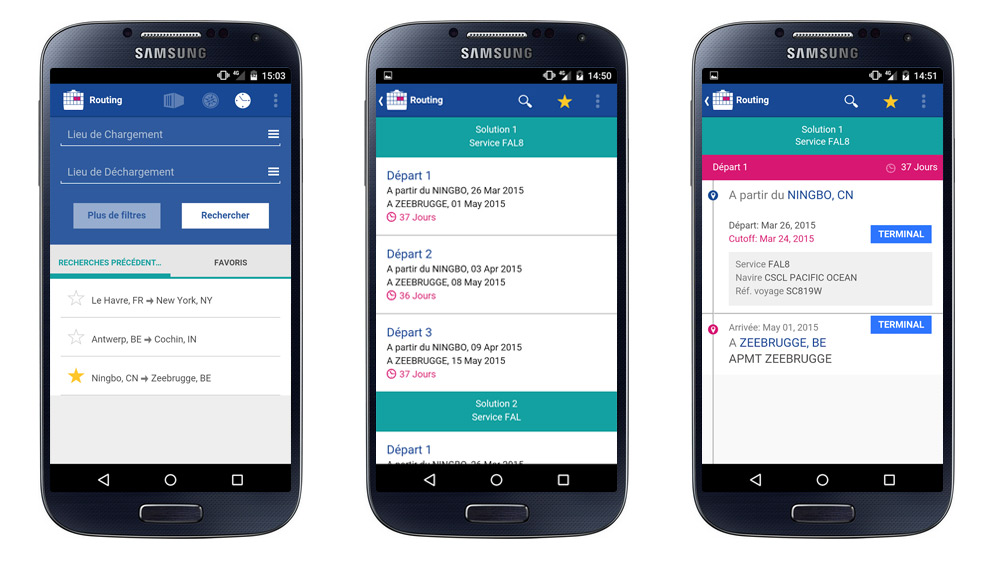 design d'application mobile android